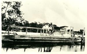 70' barge at Johnson Street crossing, Inland Waterway, 1923